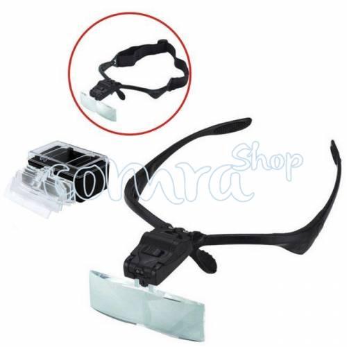 Lupa Binocular con led y 5 lentes