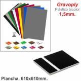 Gravoply Negro/Blanco 610x610x1,50mm