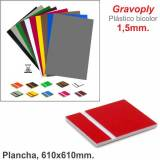 Gravoply Rojo/Blanco 610x610x1,50mm