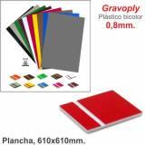 Gravoply Rojo/Blanco 610x610x0,80mm