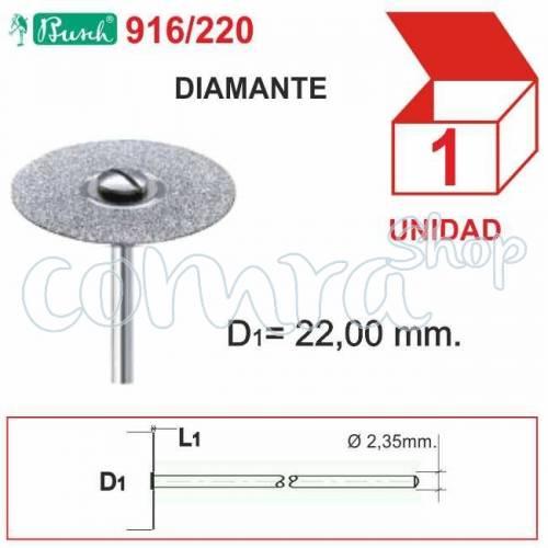 Fresa Diamantada Disco 22x0,45 mm. C/1