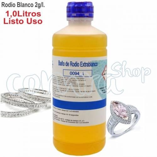 Baño de Rodio Blanco 2,0 gr. 1 Litro