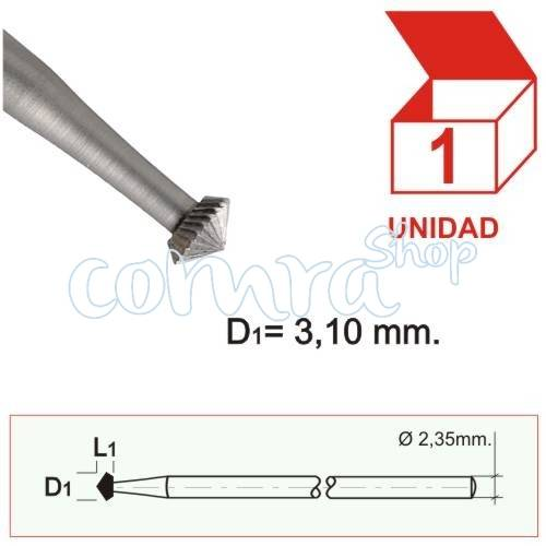 Fresa Acero Doble Cono 3,10mm. C/1